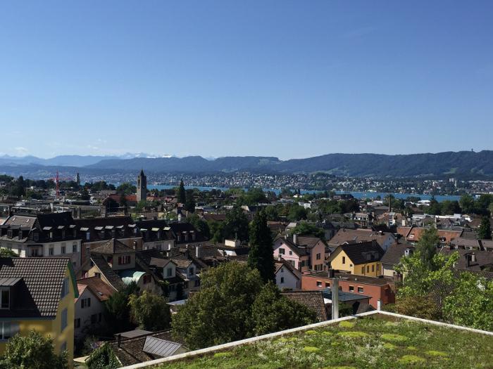 Aussicht von Stock F des Universität-Kinderspital Zürich