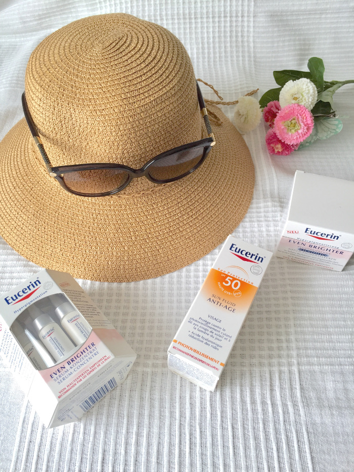 Mit Eucerin gegen Pigmentflecken: Sun-Fluid Anti-Age, Even Brighter Serum & Even Brighter Nachtpflege