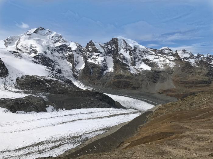 Auslauf Diavolezza Gletscher, Graubünden, Schweiz