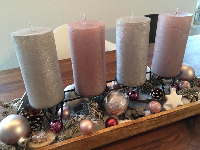 Auch ein Adventskranz gehört zur Weihnachtsvorbereitung