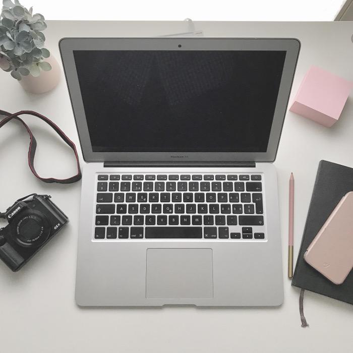 Ich arbeite an meinem Blog