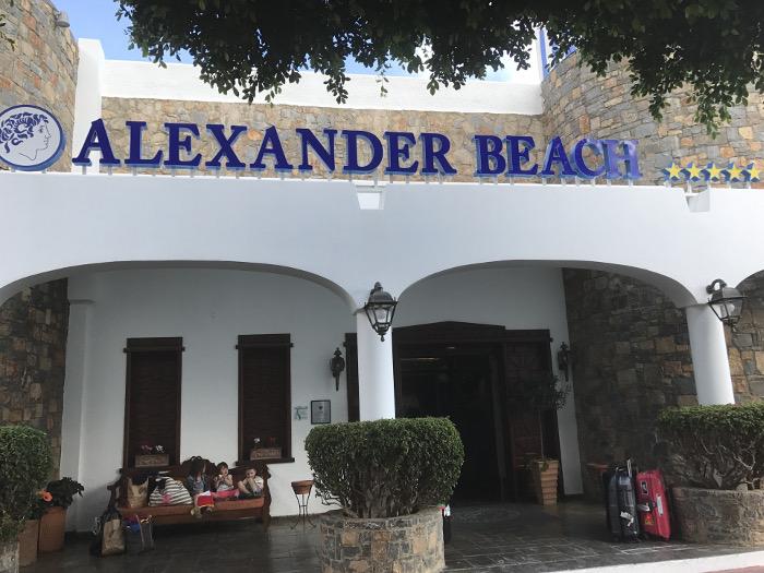 Hotel Alexander Beach auf Kreta - Eingangsbereich