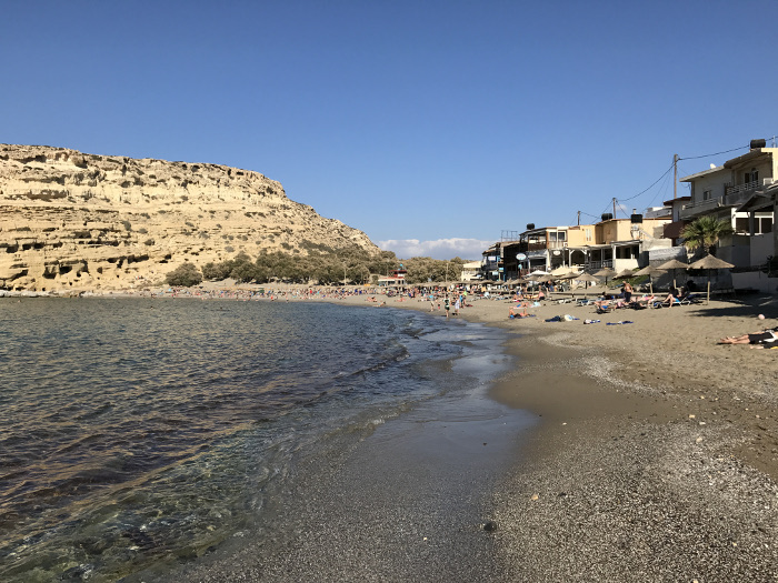 Matala Beach - die Hippie Bucht auf Kreta