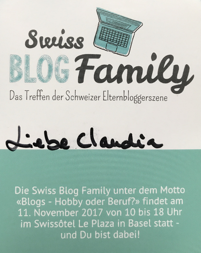 Swiss Blog Family 2017 in Basel - und ich bin dabei