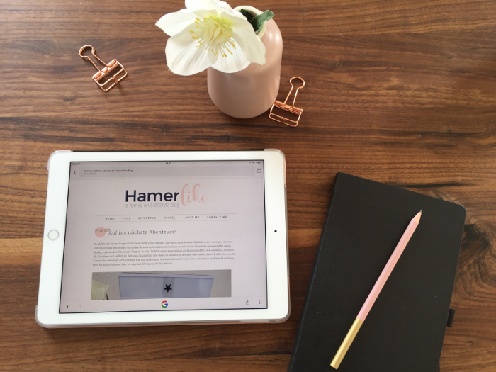 Mein Blog Hamerlike - a family and lifestyle blog ging online.