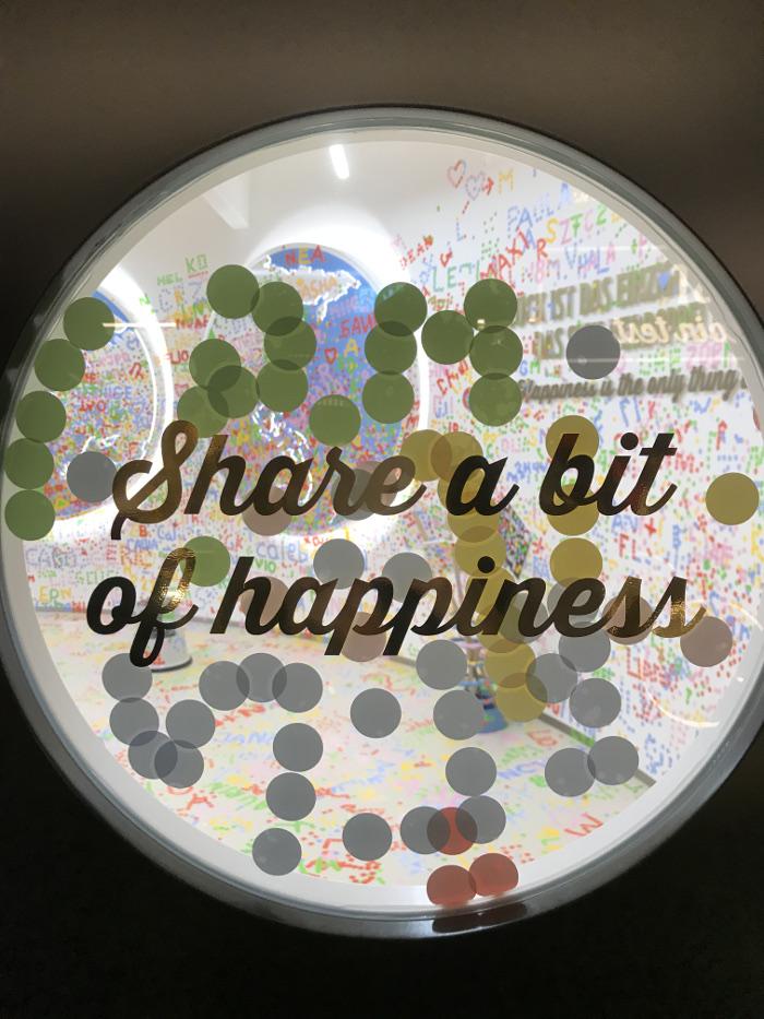 Maestrani's Chocolarium: Raum des Glücks. Hier kann man das Glück teilen.