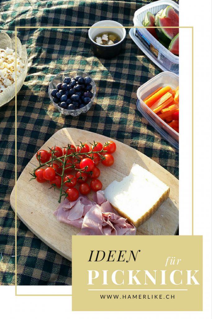 Eine Auswahl and Picknick Ideen.