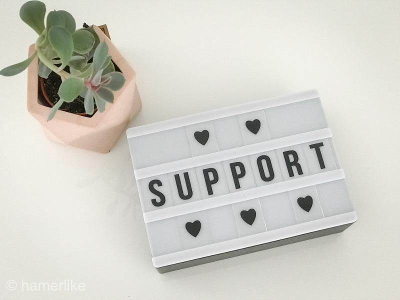Blogger unterstützen - Support ist wichtig!