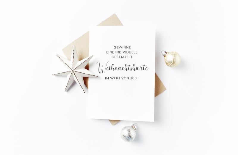Angebot für eine individuell gestaltete Weihnachtskare im Wert von 300.- von Grafik Studio Murschetz