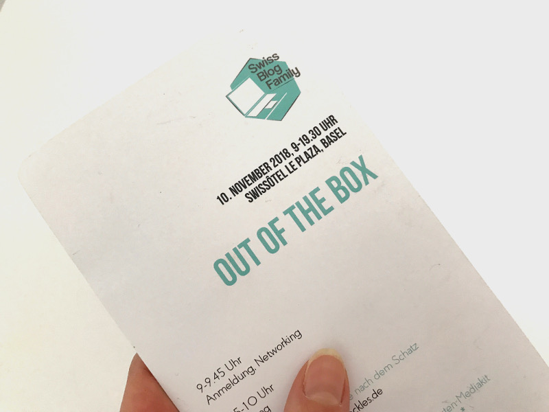 Swiss Blog Family 20218 - Out of the Box - Programm