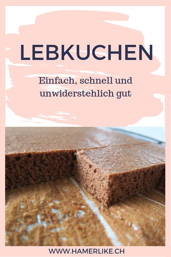 Lebkuchen vom Blech - einfach und schnelles Rezept