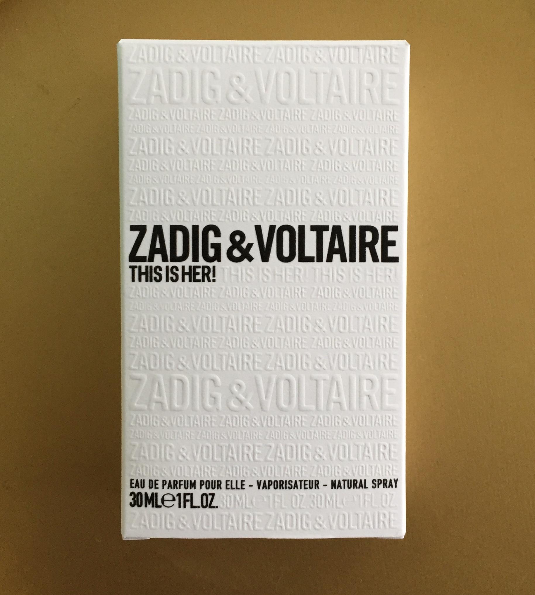 Eau de Parfum pour Elle: Zadig & Voltaire