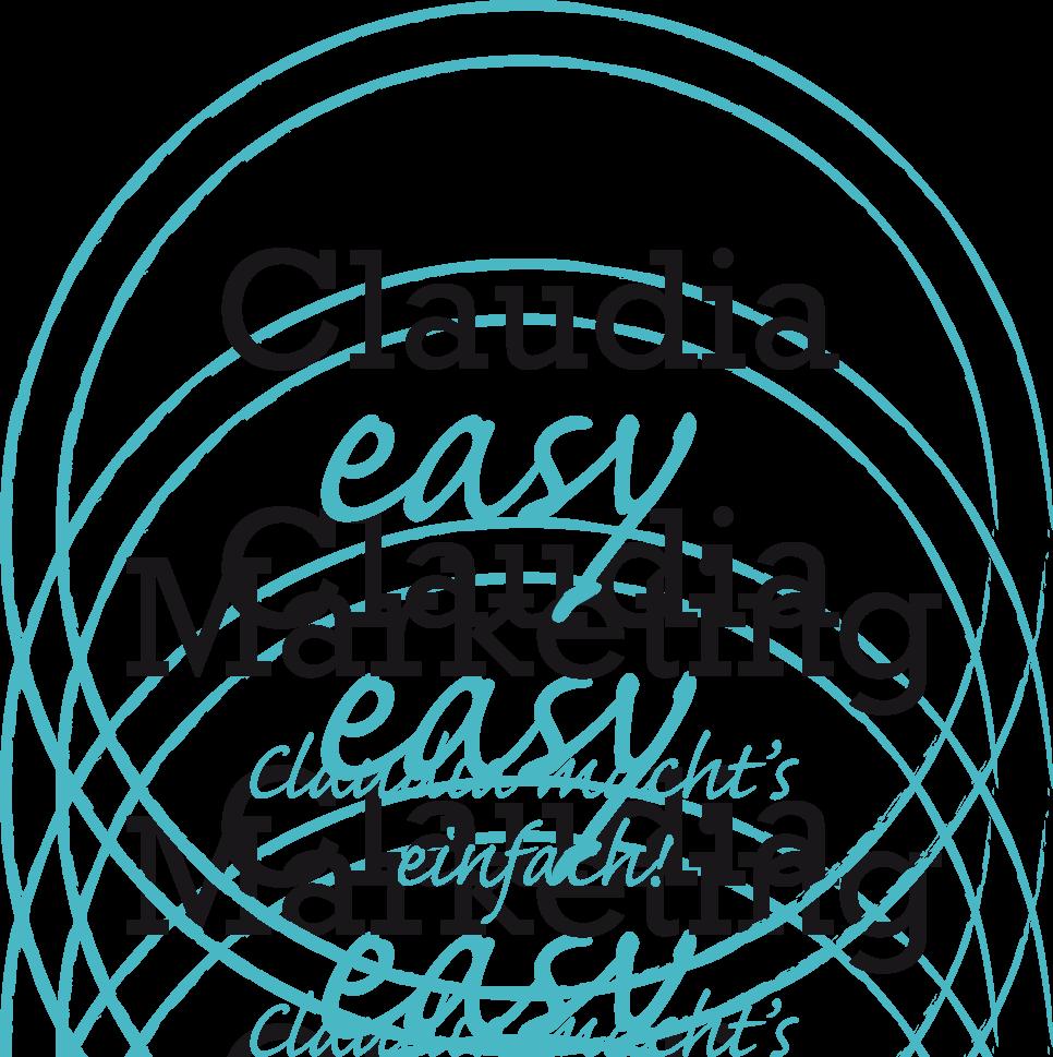Logo Claudia easy Marketing, Claudia macht's möglich