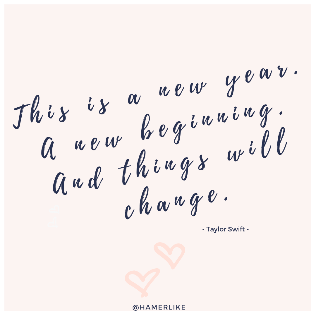 Hallo 2019 - This is a new year. A new beginning. And things will change