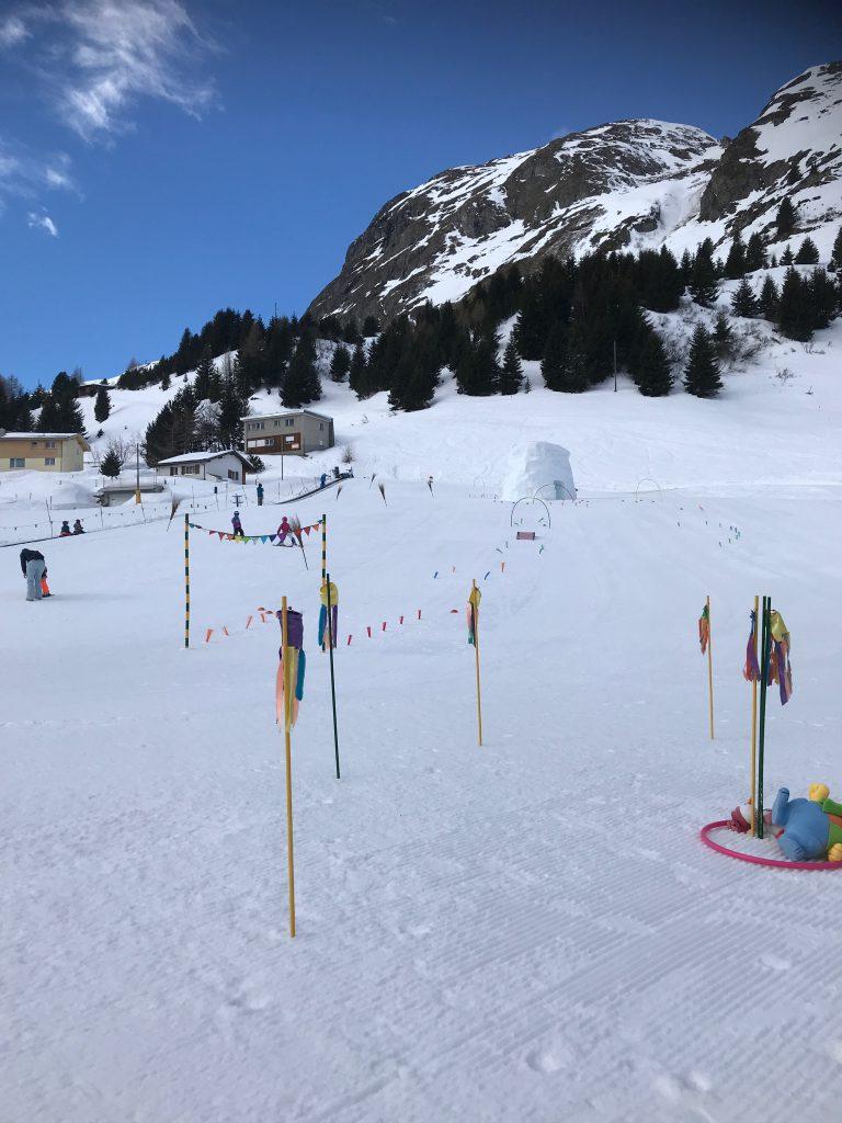 Skiferien mit Kindern: Übungshang von Bivio, Schweiz