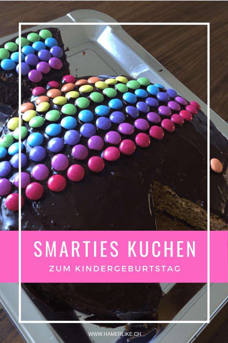 Smarties Kuchen zum Kindergeburtstag