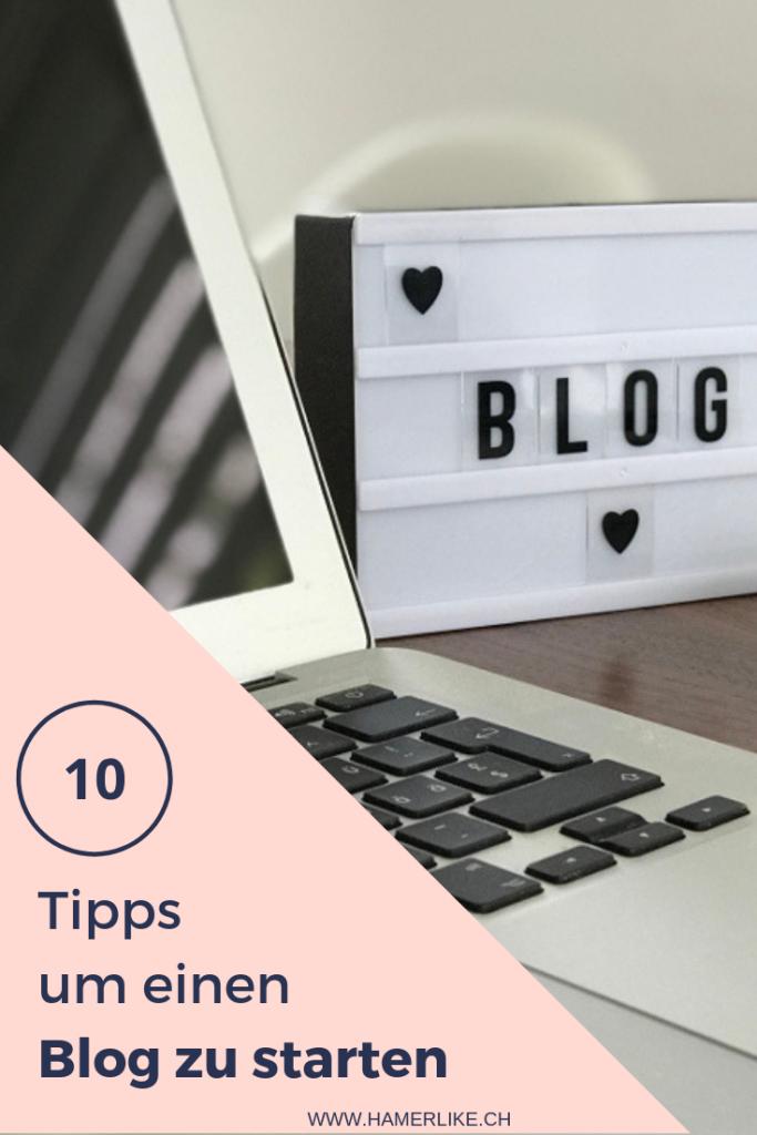 10 Tipps um einen Blog zu starten